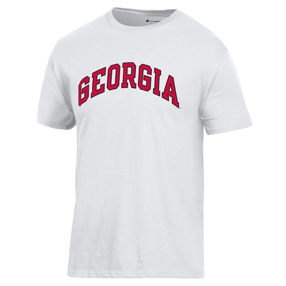 Arched Georgia Champion T-Shirt White