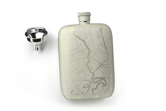 Athens, Georgia Pocket Flask - Matte White