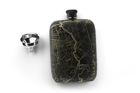 Copy of Athens, Georgia Pocket Flask - Matte Black