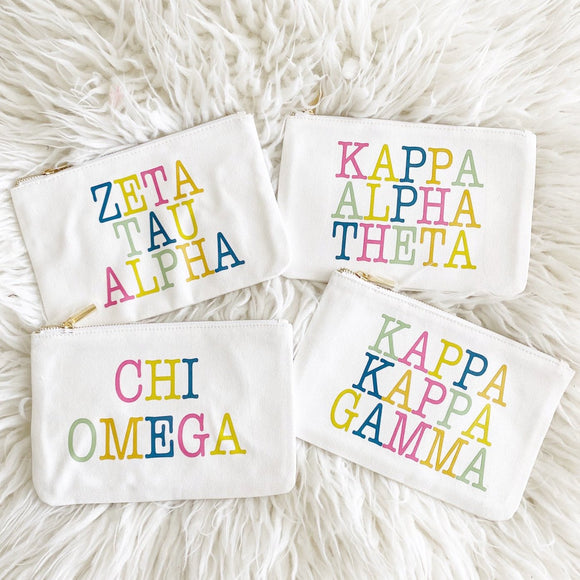 Sorority Color Block Pouch