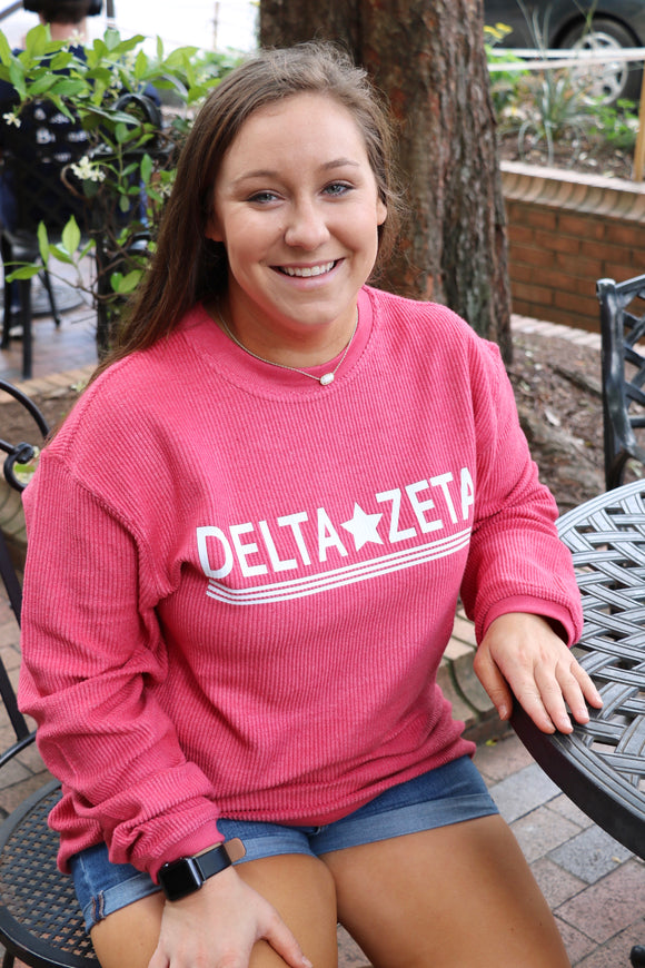 Sorority Corded Crew Sweatshirt