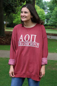 Sorority Custom Comfort Wash Sweatshirt Crew