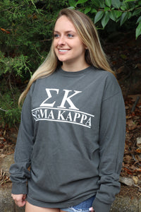 Sorority Custom Comfort Colors Long Sleeve Tee
