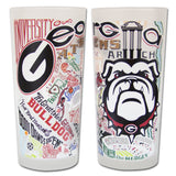 UGA Fabulous Frosted Glasses