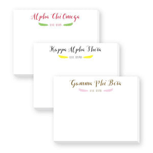 Sorority Scripty Dittie Notepad