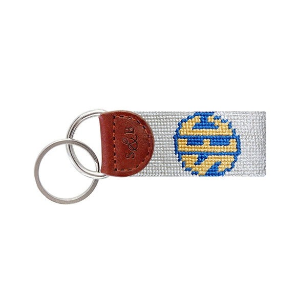 SEC (Light Khaki) Needlepoint Key Fob