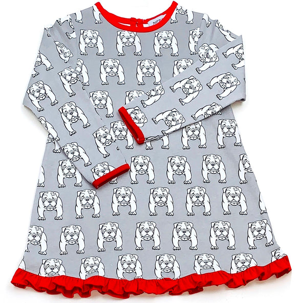 Georgia bulldogs print play dress