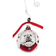 UGA Bulldog Porcelain Ornament