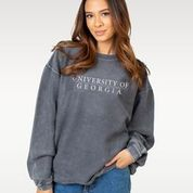 UGA Ladies Corded Crew - Charcoal