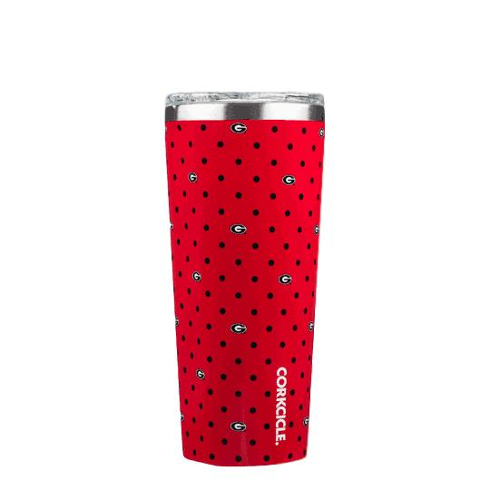 UGA Corkcicle 24oz Allover Print Tumbler