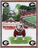 UGA Throw - Georgia On My Mind