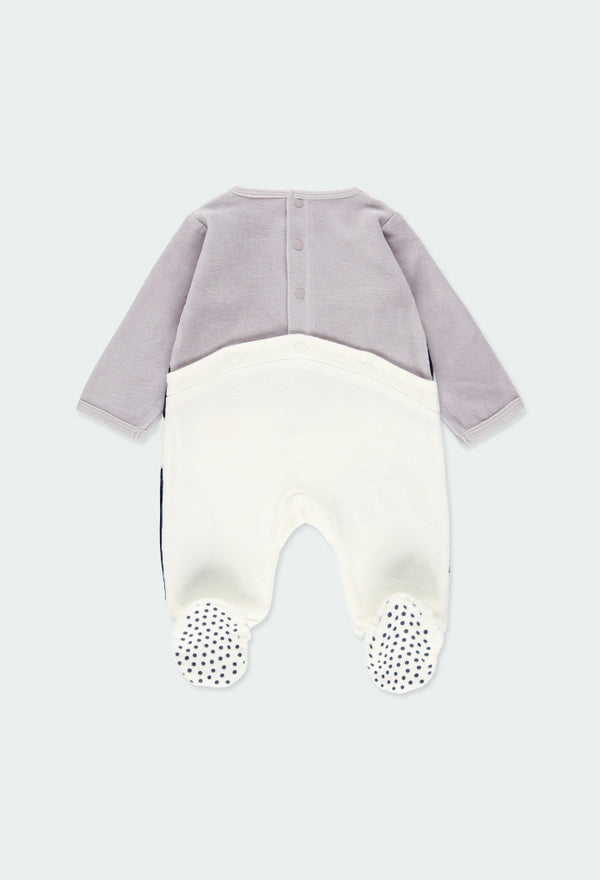 "Velour Play Suit ""Penguin"" for Baby -Il Bambino Store"