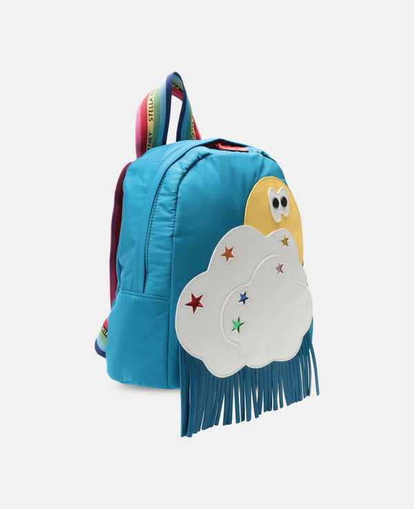 Weather Patches Backpack in Blue - Il Bambino Store