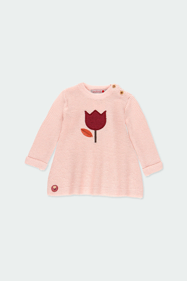 Talcum Knitwear Dress for Baby Girl - Il Bambino Store