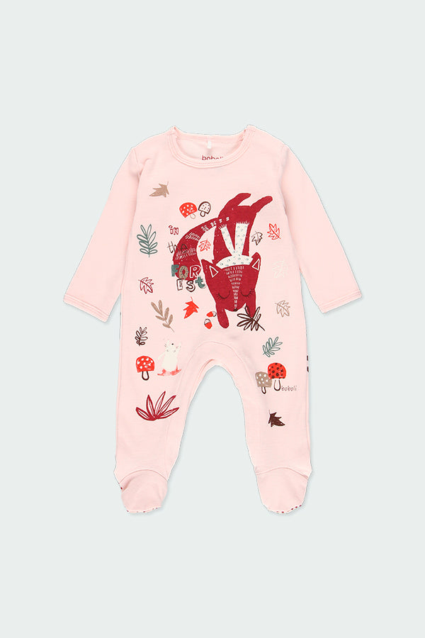 "Talcum Velour Playsuit ""Animal"" for Baby - Il Bambino Store"