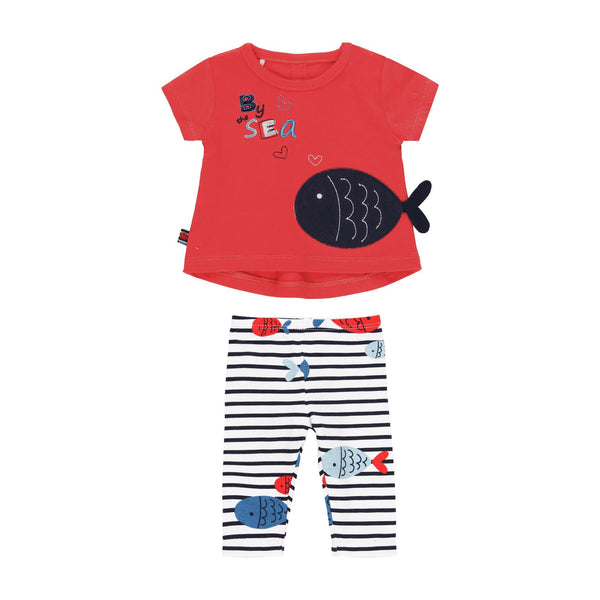 "Pack Knit ""Fish"" for baby girl - Il Bambino Store"