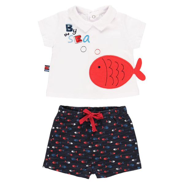 "Pack Knit ""Fish"" for baby boy - Il Bambino Store"