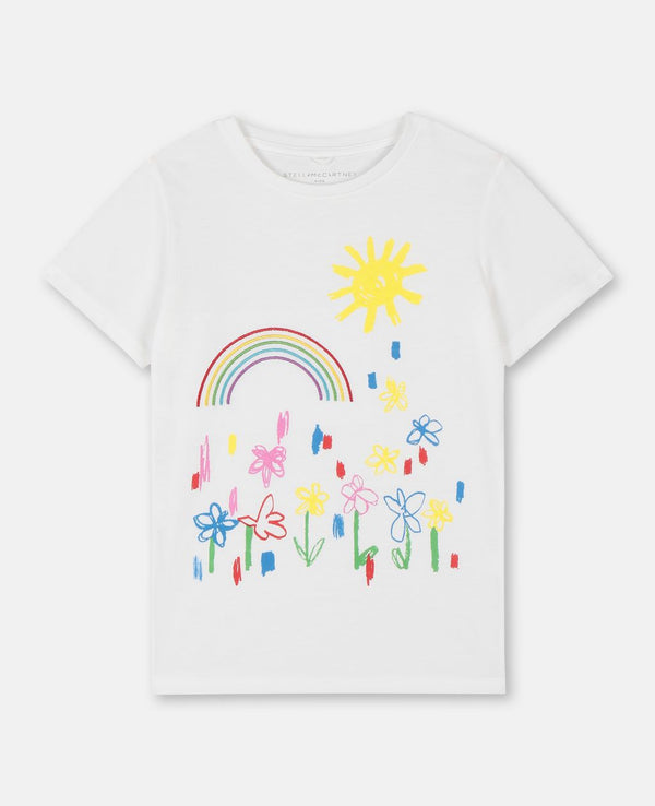Short Sleeve Rainbow Embroidery Tee - Il Bambino Store