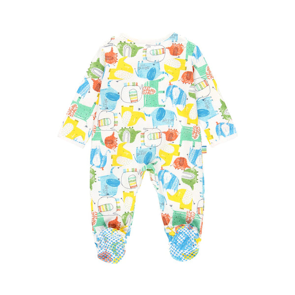 "Knit Playsuit ""Elephant"" for baby - Il Bambino Store"