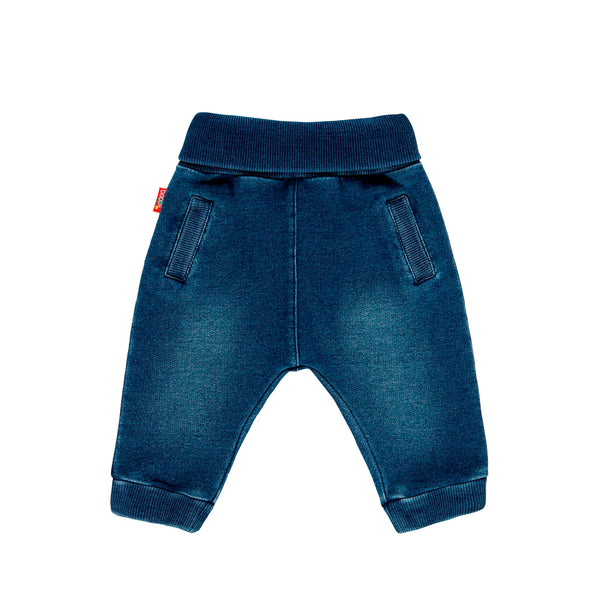 Fleece Denim Trousers for Baby - Il Bambino Store