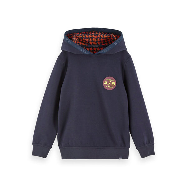Boys Ams Blauw Reversible Hooded Sweat With Artwork - il Bambino Store