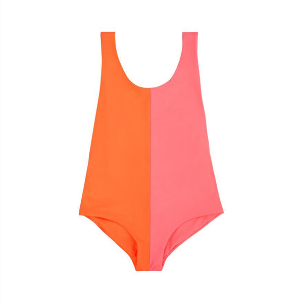 Isabelle One Piece (Orange Pink) - Il Bambino Store