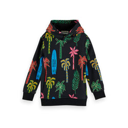 Boys All-Over Printed Hoodie - Il Bambino Store