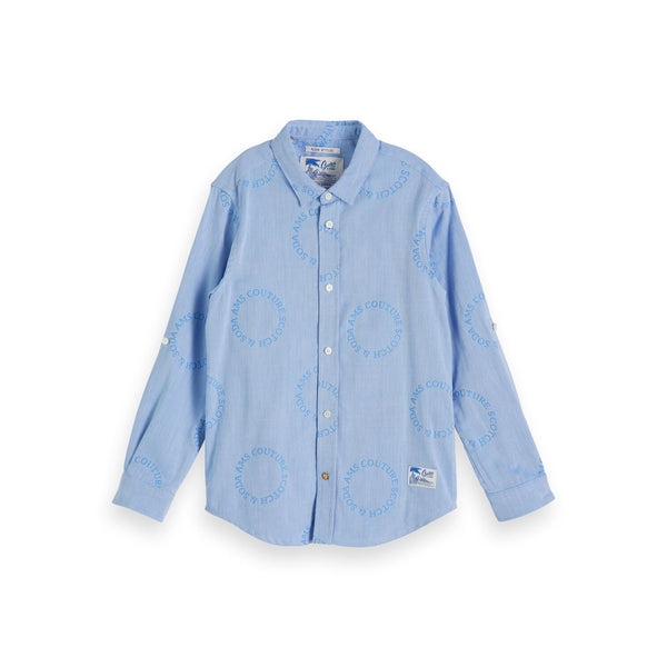 Boys Long Sleeve Shirt In Jacquard Quality - il Bambino Store