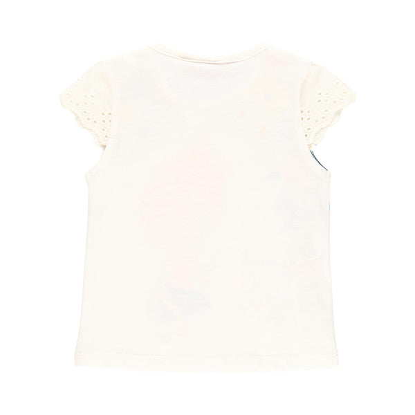Knit T-shirt Flame for Girl - Il Bambino Store
