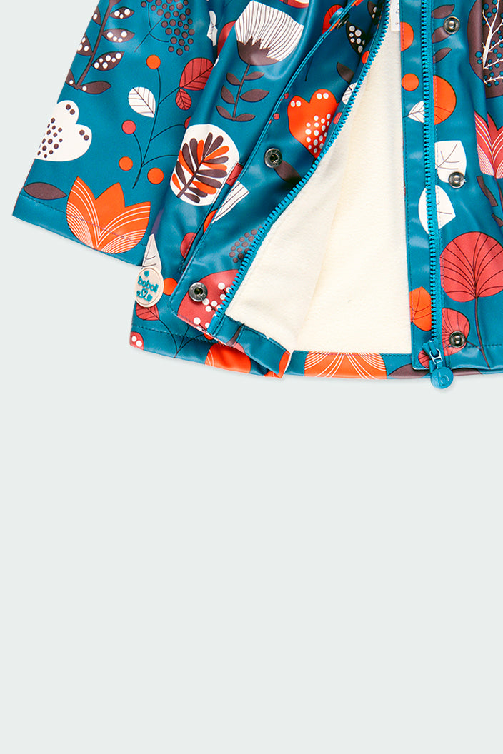 Hooded Raincoat Floral Print - Il Bambino Store