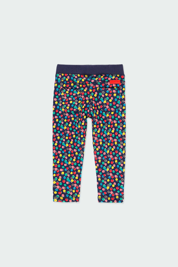 Baby Girl Fleece Trousers Polka Dot - Il Bambino Store
