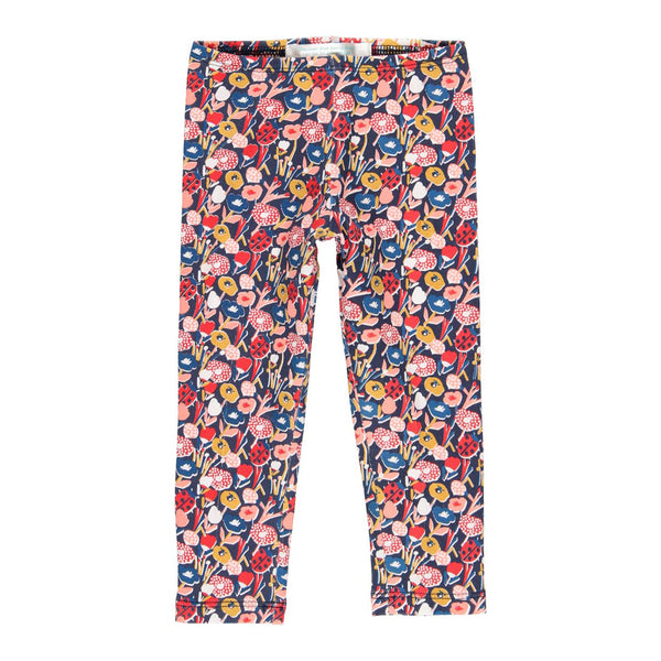 Stretch Knit Leggings Floral for girl - Il Bambino Store