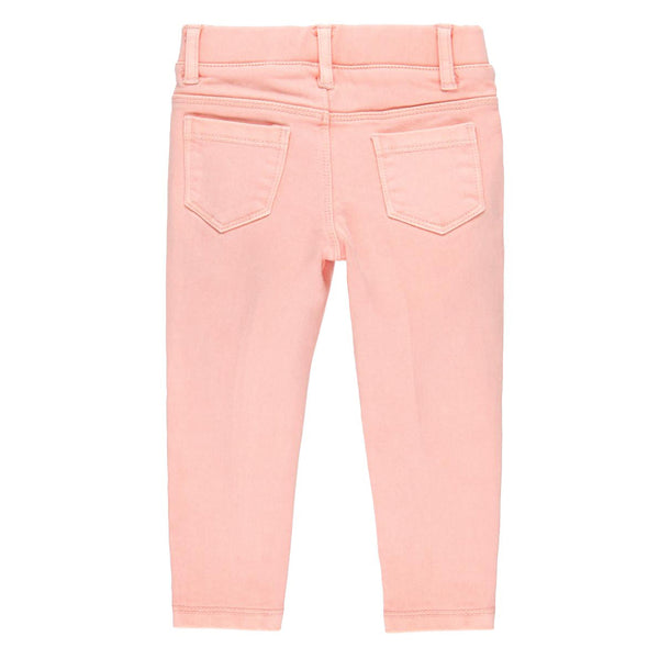 Salmon Twill Trousers Knit for girl - Il Bambino Store