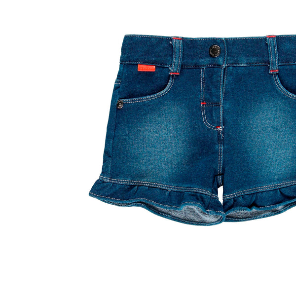 Fleece Denim Shorts for Girl - Il Bambino Store