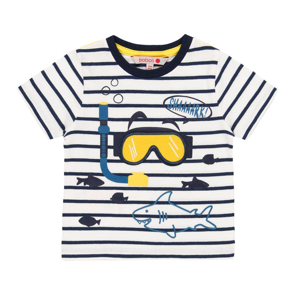 "Knit T-Shirt ""Sharks"" for boy - Il Bambino Store"