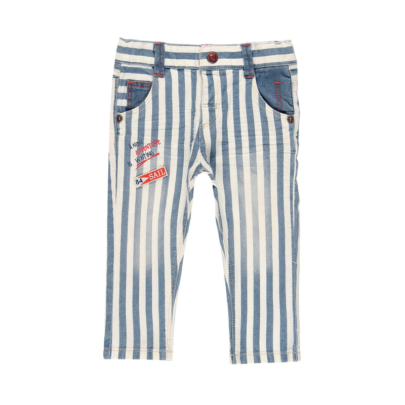 Denim Stretch Trousers for Boy - Il Bambino Store