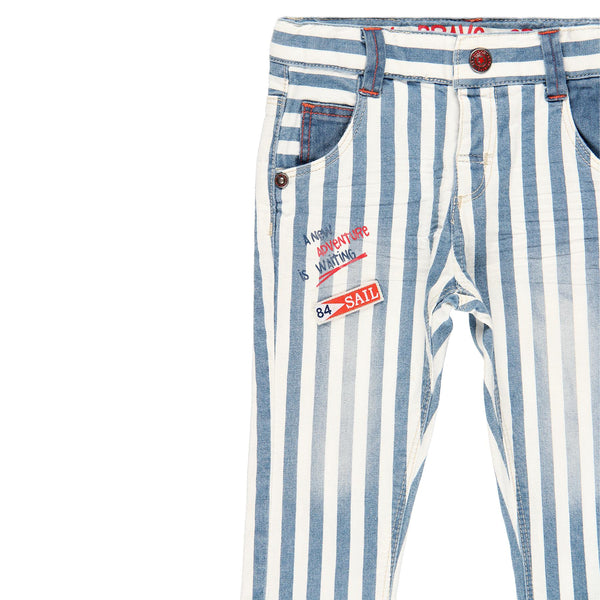 Baby Boy Denim Stretch Trousers - Il Bambino Store