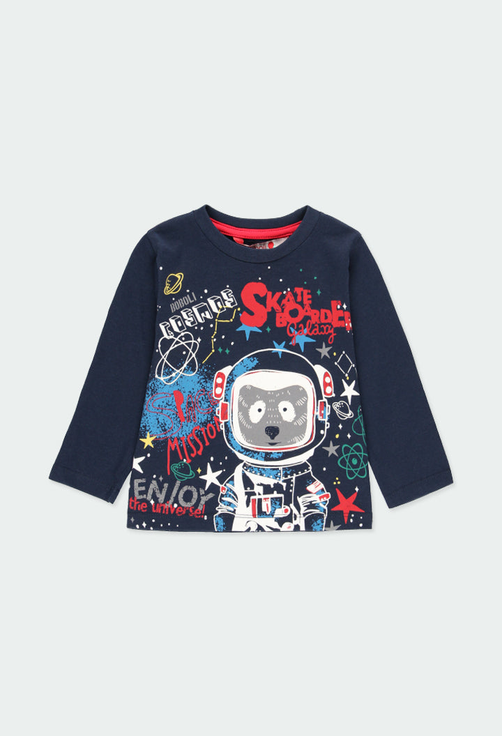 "Knit T-Shirt ""Astronaut"" for Boy - Il Bambino Store"