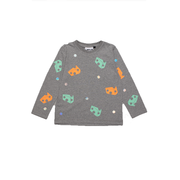 Baby Chalk & Cheese Long Sleeved T-Shirt Grey - Il Bambino Store
