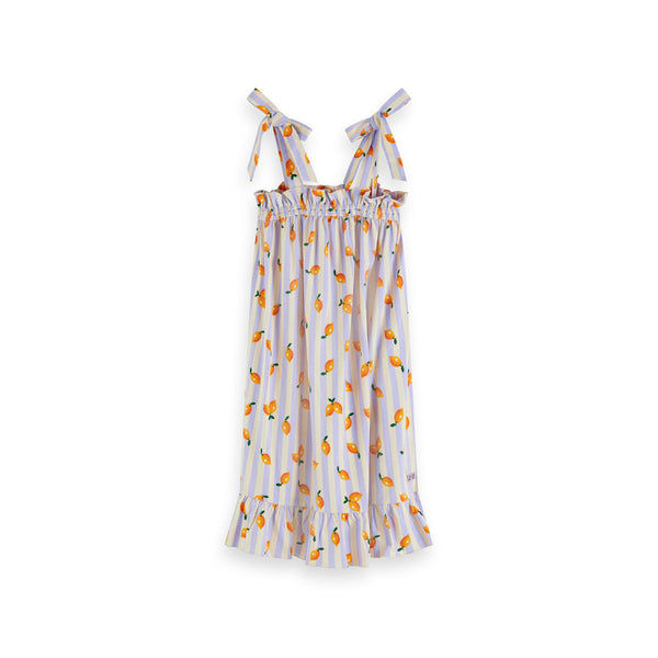 Girls Jersey All-Over Printed Strap Dress - Il Bambino Store