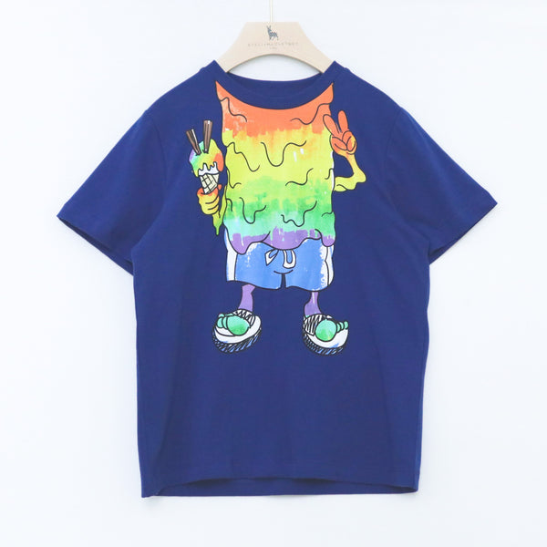 SS Tee with Rainbow Monster Print - il Bambino Store