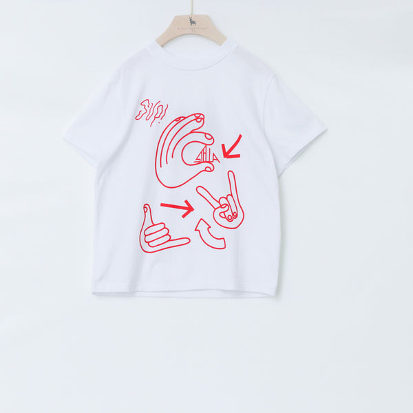 Oversized SS Tee with Cool Hand Print - Il Bambino Store