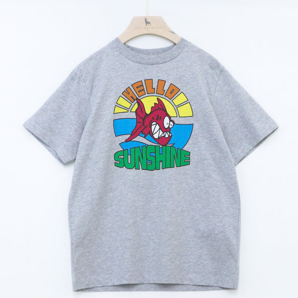 Oversized SS Tee with Hello Sunshine Print - il Bambino Store
