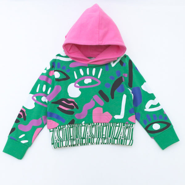 Graphic Face Hoodie - il Bambino Store