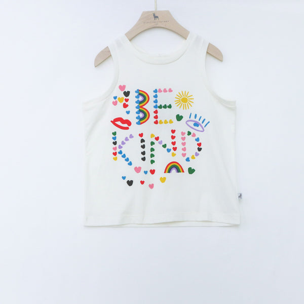 Jersey Tank with Be Kind Print - il Bambino Store