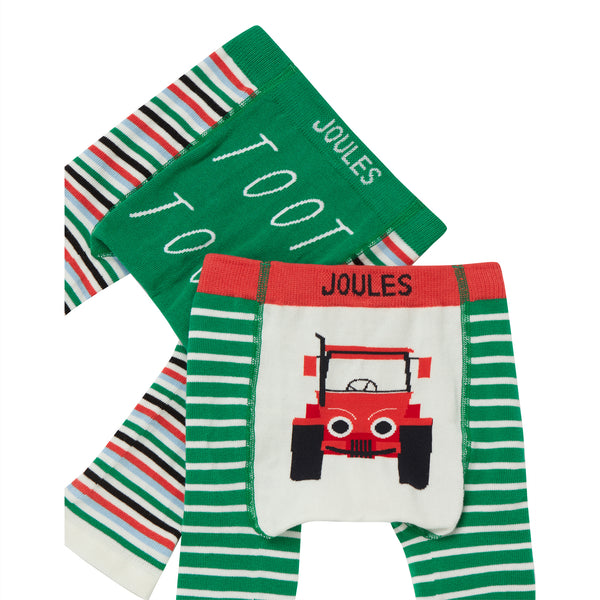 Lively Knitted Leggings (Multicolor/Tractor) - Il Bambino Store