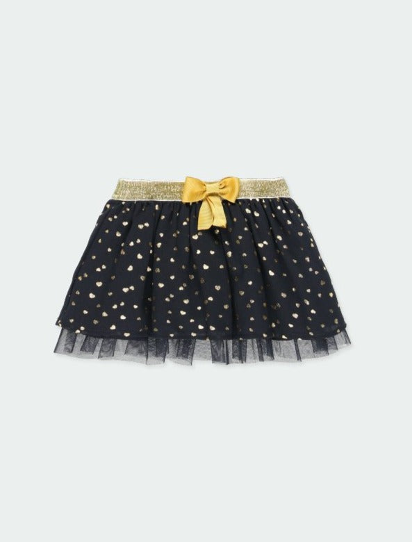 Skirt with Gauze Hearts - Il Bambino Store