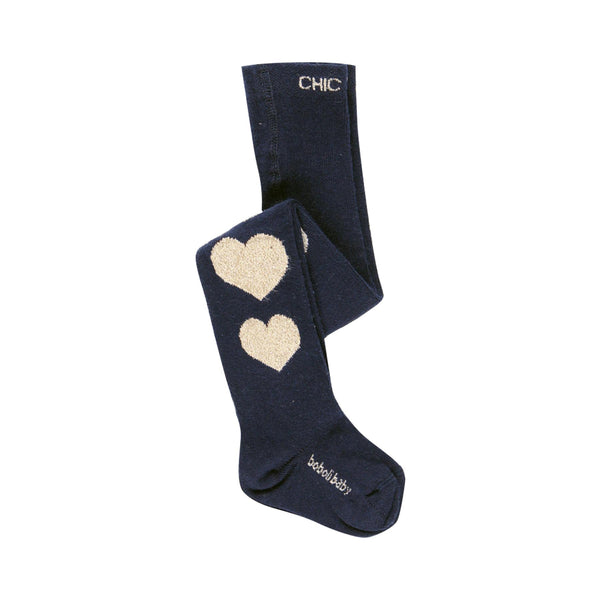 Thick Tights Hearts for Girl - Il Bambino Store