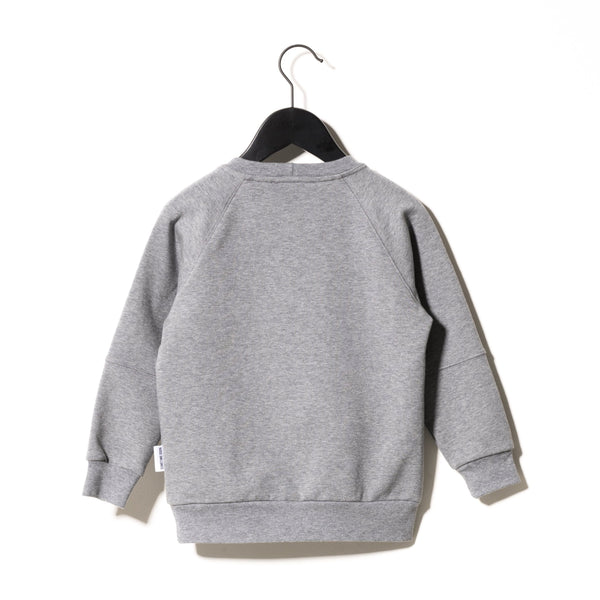 Malcolm Long Sleeve T-Shirt in Grey Melange - Il Bambino Store