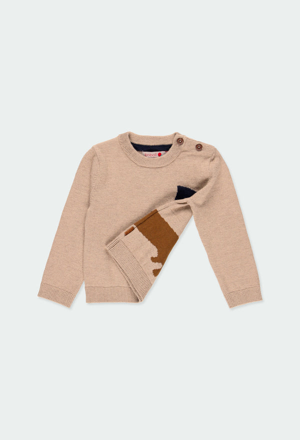 "Knitwear Pullover ""Puppy"" for Boy - Il Bambino Store"